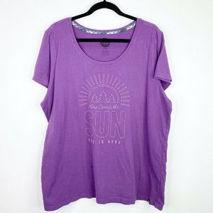 Life is Good Here Comes the Sun Purple T-Shirt XXL